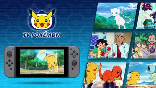 La aplicación gratuita de TV Pokémon llega a Nintendo Switch