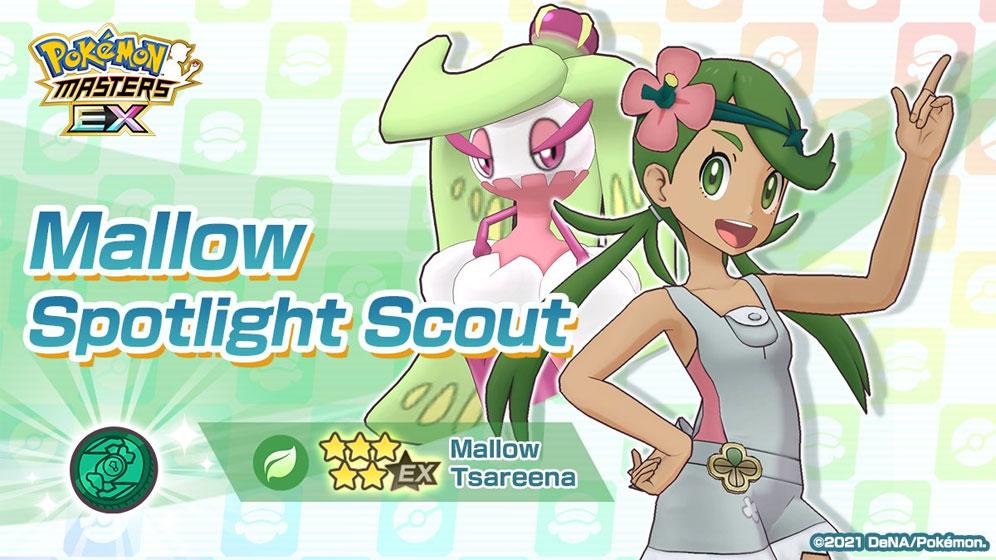 Mallow / Lulú y Tsareena llegan a Pokémon Masters EX