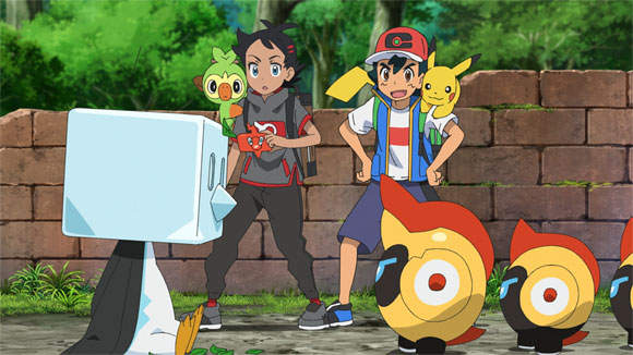 Capítulo 73 Pokémon Viajes - ¡Capitán Pikachu! ¡¡Avanza Falinks!!