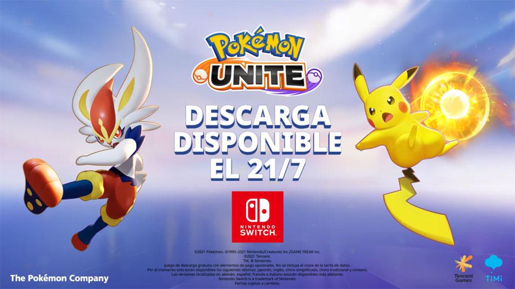 Pokémon UNITE llega este 21 de Julio a Nintendo Switch
