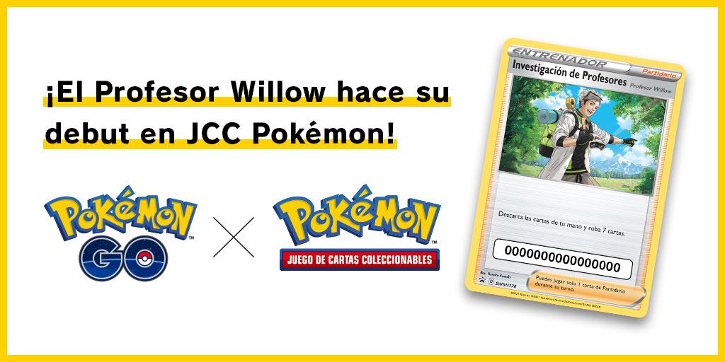 El Profesor Willow llega al JCC / TCG Pokémon en Julio 2021
