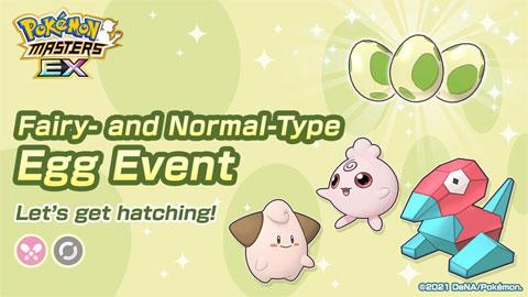 Nuevo Evento Huevo de Tipo Hada y Normal en Pokémon Masters