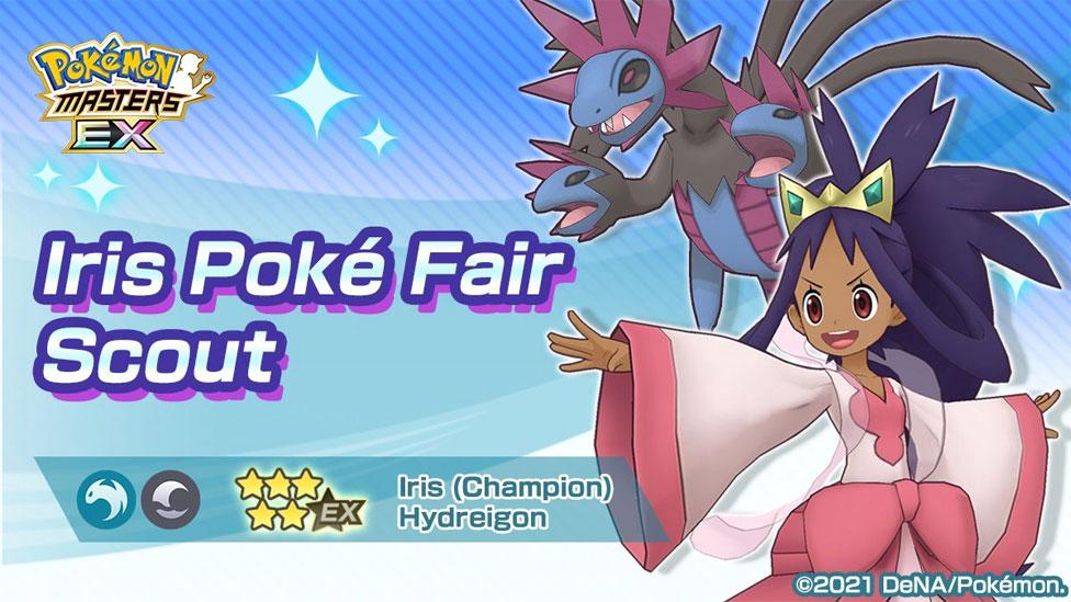 Iris Campeona junto a Hydreigon llegan a Pokémon Masters
