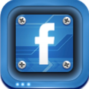 facebook logo in blue