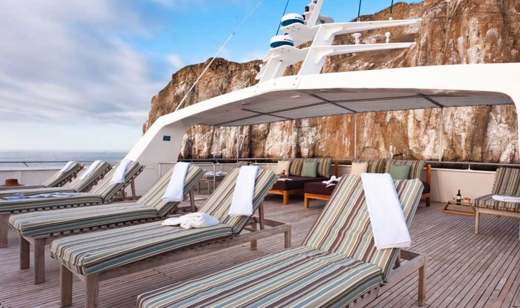 Sun deck , Galapagos Seaman Journey