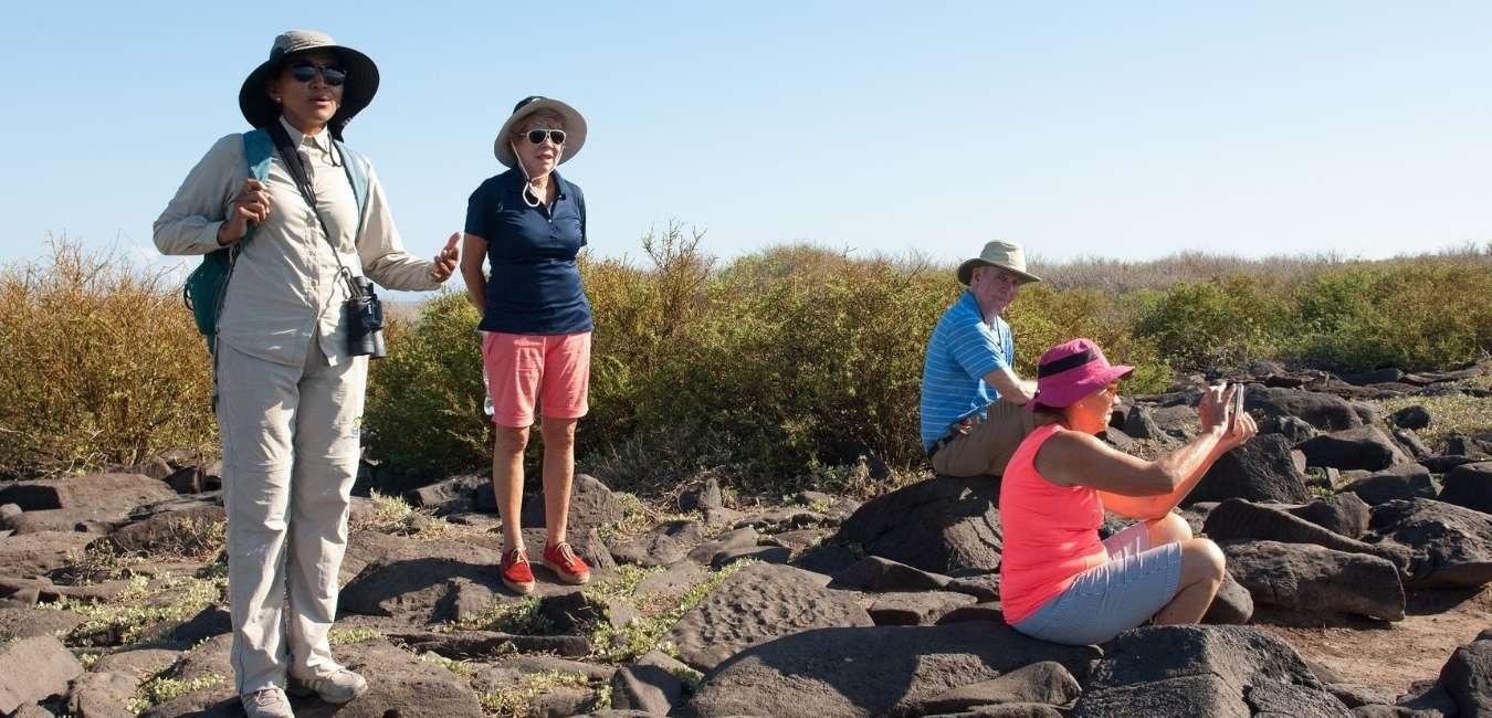 Galapagos tourists