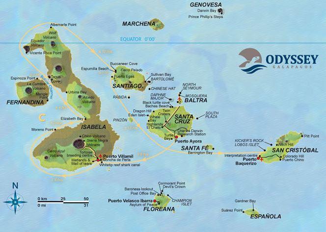 Map | Galapagos islands