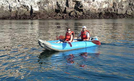 Kayaking in Galapagos