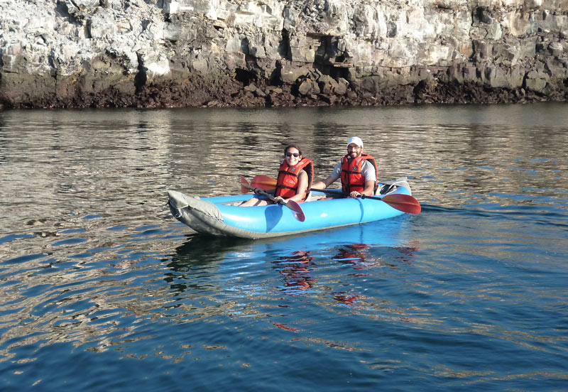 Kayaking Galapagos islands