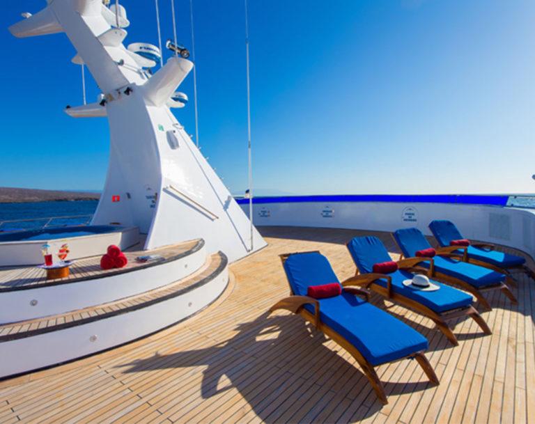 Ocean Spray sun deck | Galapagos