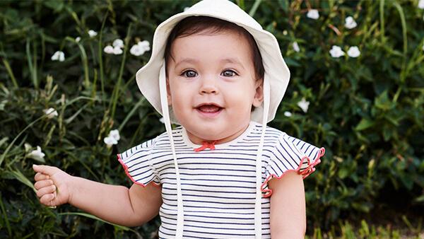 Vauvan pukeminen kesällä