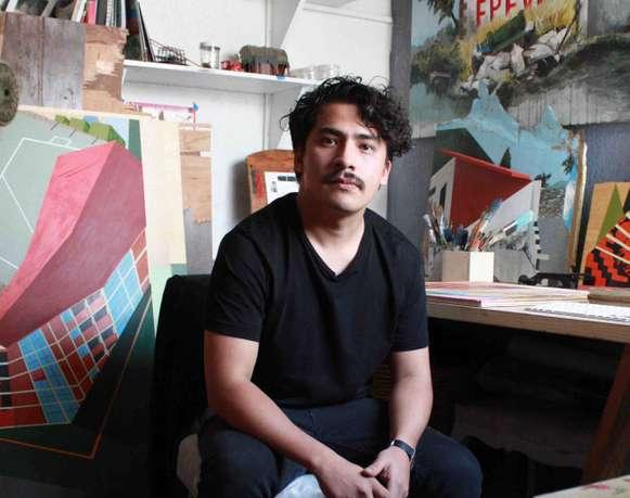 Visita al estudio de Néstor Jiménez