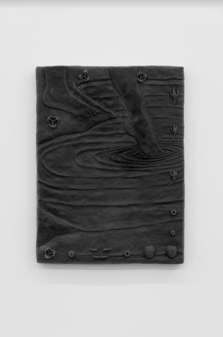 ASMA, Soft wax night, 2019 Parafina micro blanca, pintura encáustica, mdf Cortesía de los artistas