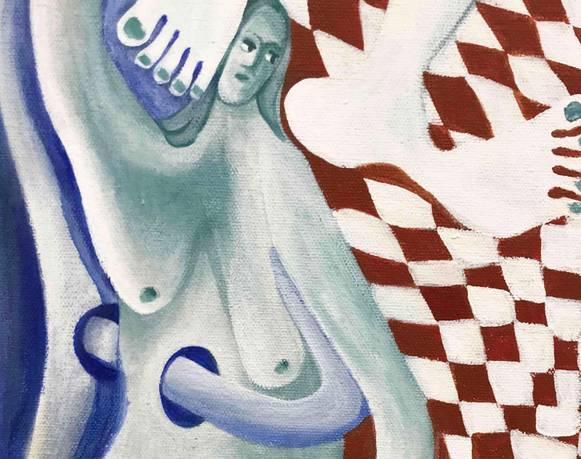 A pregnant thought o cómo parir una pintura: Jesi Jordan