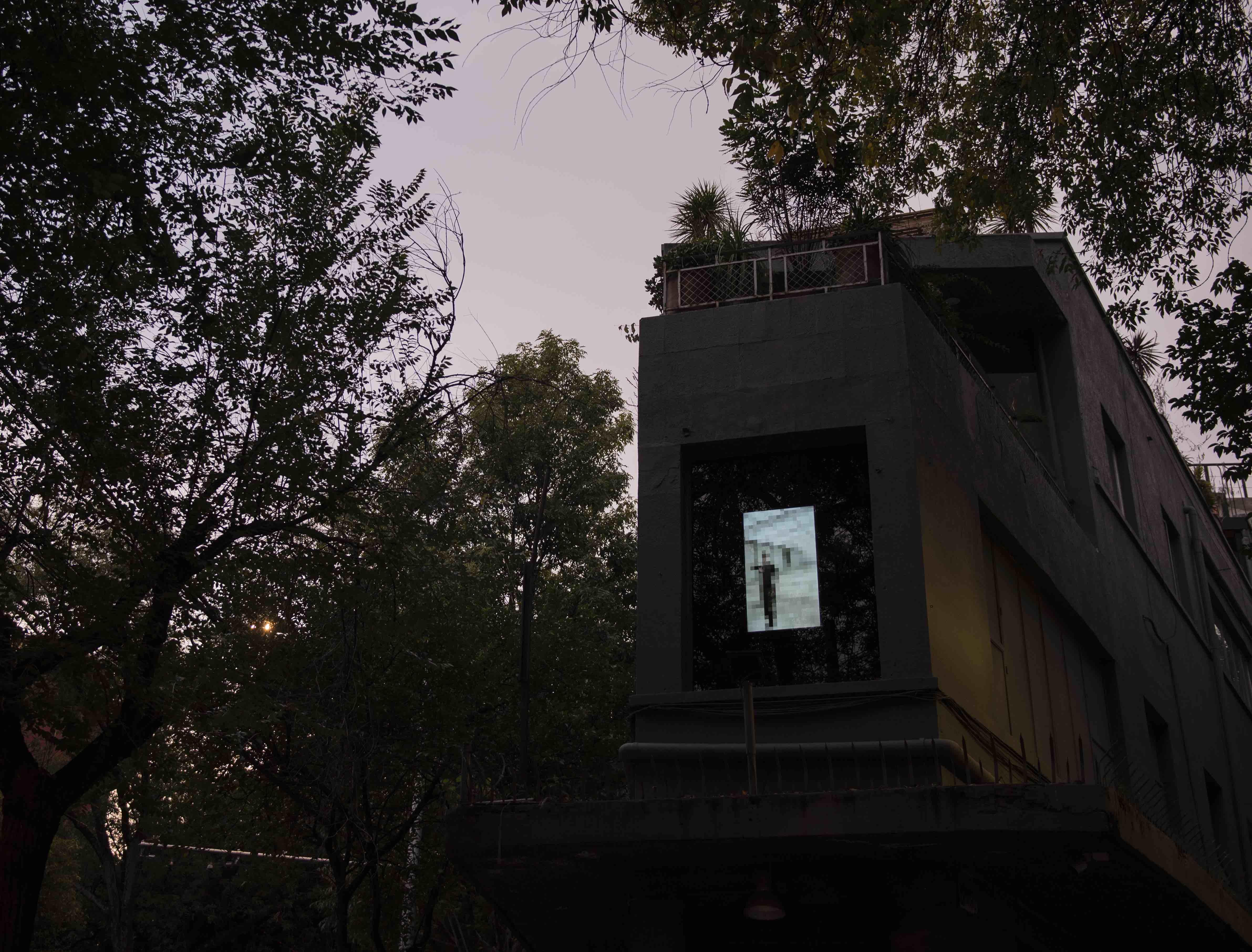 Perpetrator, UBERMORGEN, Festival del Silencio, Aparador Cuchilla México, 2020. Foto: Alonso Cedillo