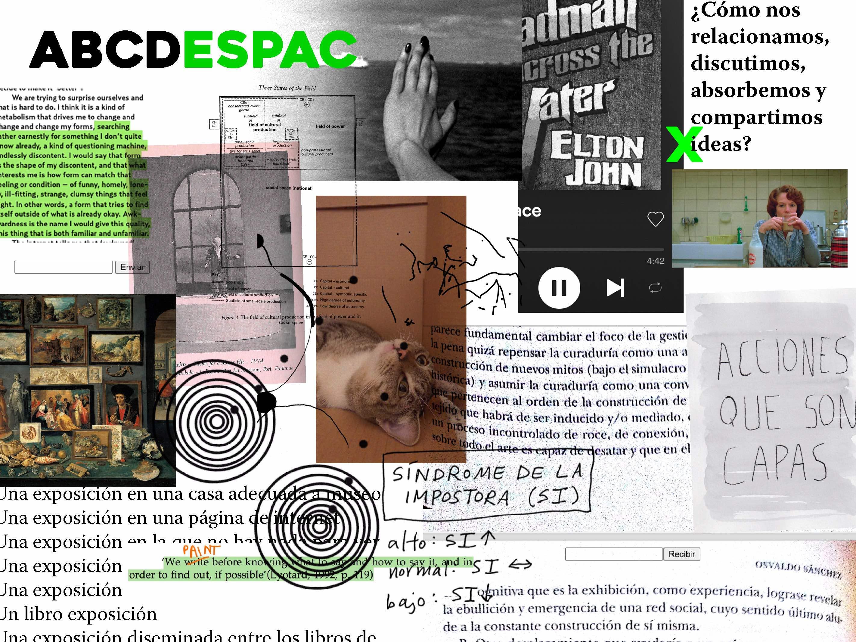 Colaboraciones al Proceso abierto del ABCDESPAC, Disponible en www.espac.org.mx/ABCDESPAC. Cortesía ESPAC