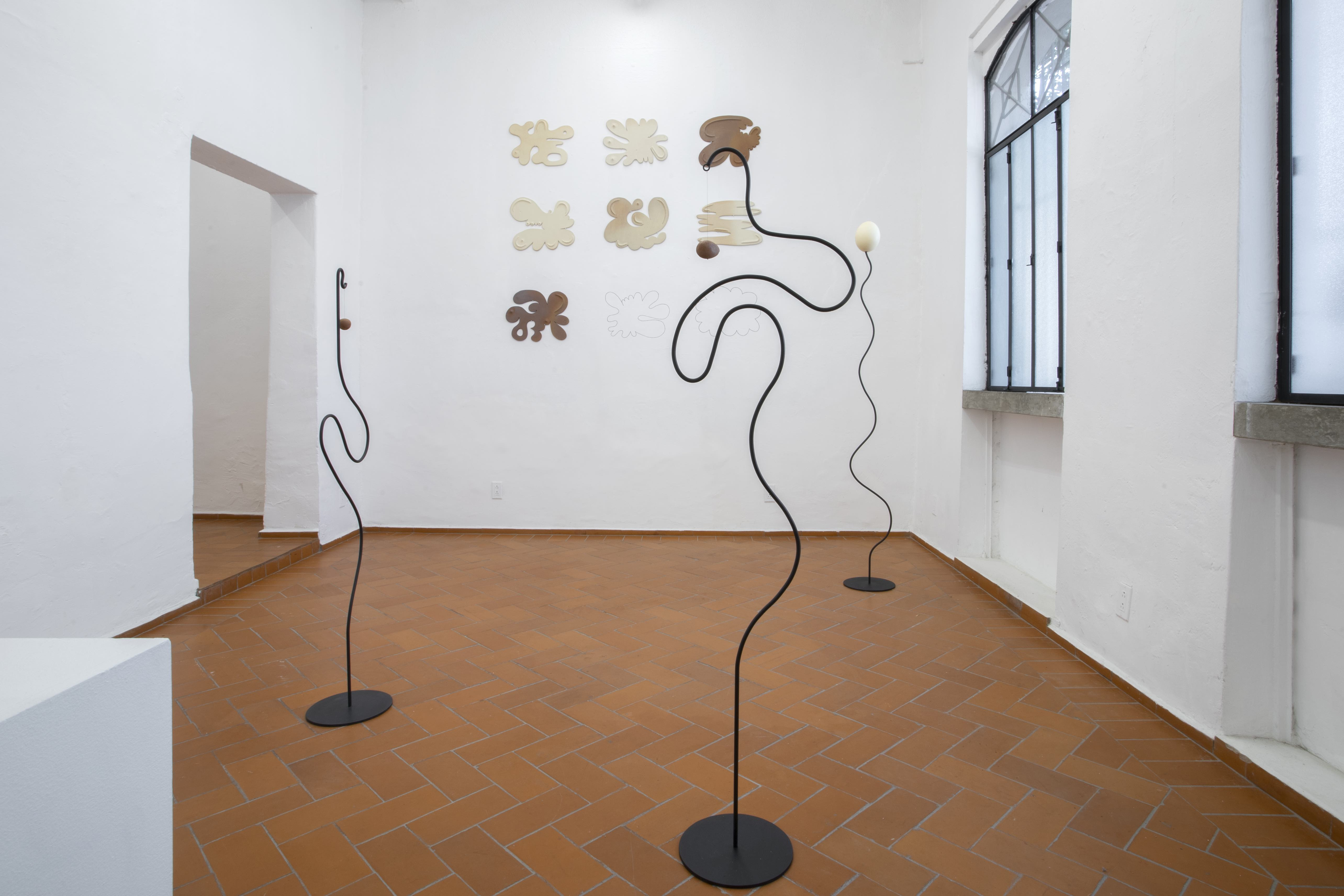 Exhibition view for Jardín, Natalia Ramos, guadalajara90210, 2021. Courtesy of the artist