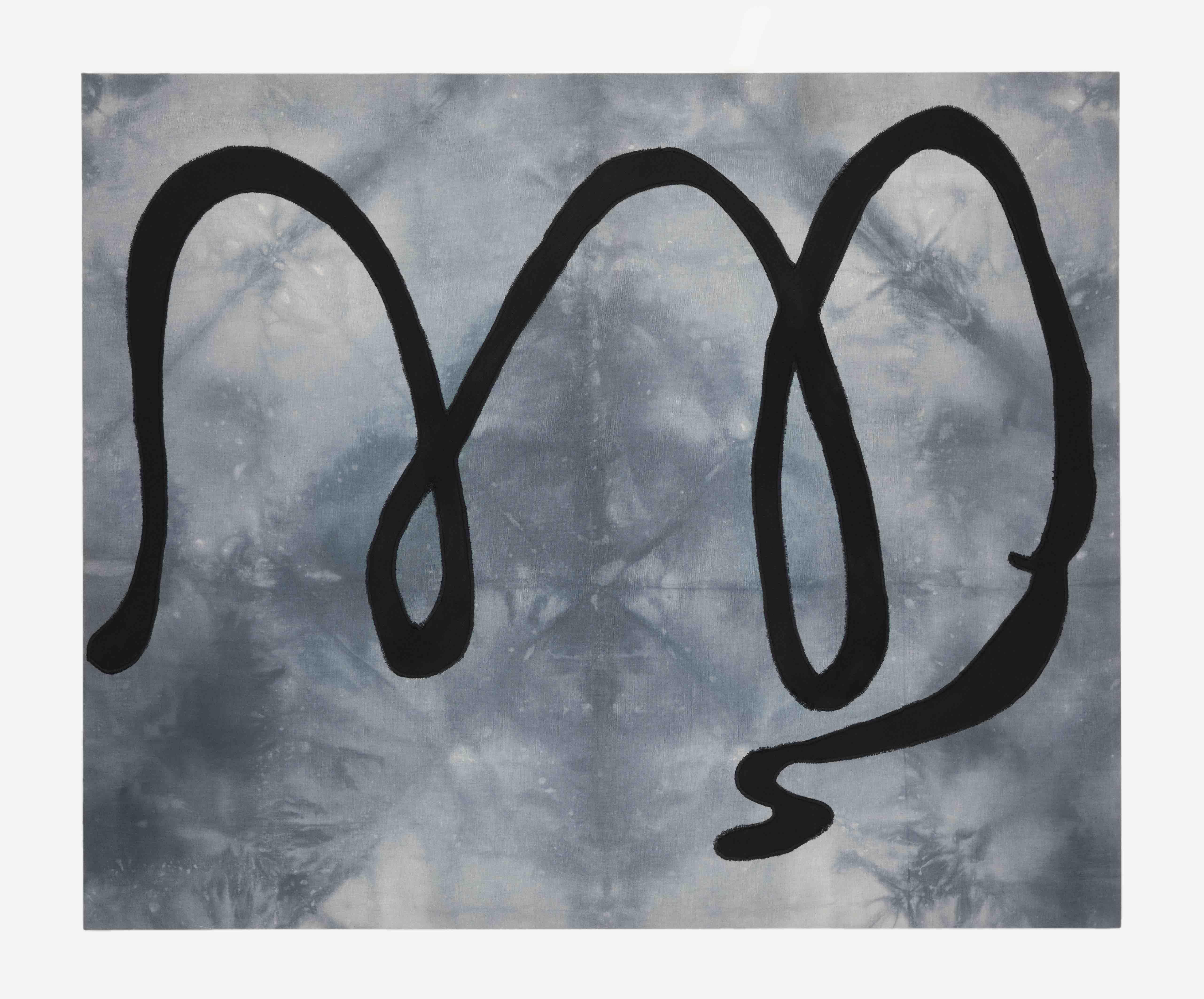 Milagros Rojas. Untitled (2021) Dyed and embroidered cotton fabric, gabardine. 104 x 86 x 4 cm. Photo: Jordán Rodríguez. Courtesy of the artist and Salón Silicon