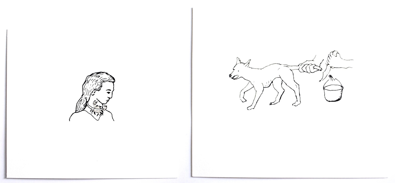 "Elisa Pinto. Amarrar un cangrejo contra el buche (""To tie a crab on the goiter"") and Té hecho del pelo de la cola de un perro (""Tea made from the hair of a dog's tail""). From the series Remedios (2015). Courtesy of the artist."