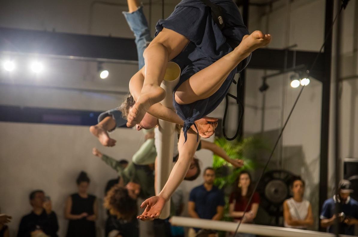 Bárbara Foulkes, ¿Cómo respira una escultura?, Quinto laboratorio internacional de danza Panamá Aérea 2019. Foto: Alegre Saporta. Cortesía de la artista