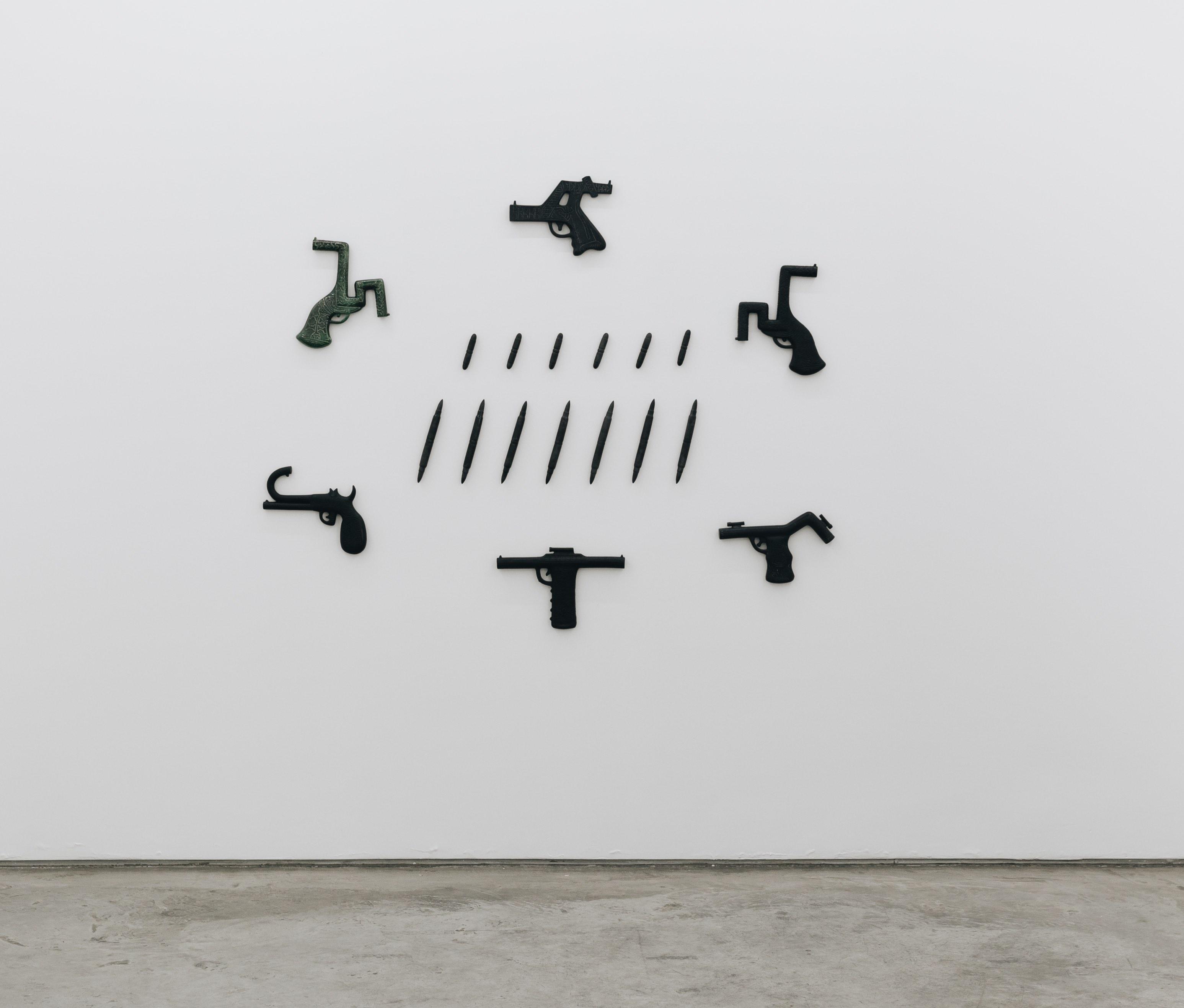 Luis Miguel Suro, vista de la exposición en Galería Enrique Guerrero, 2021. Cortesía de la galería