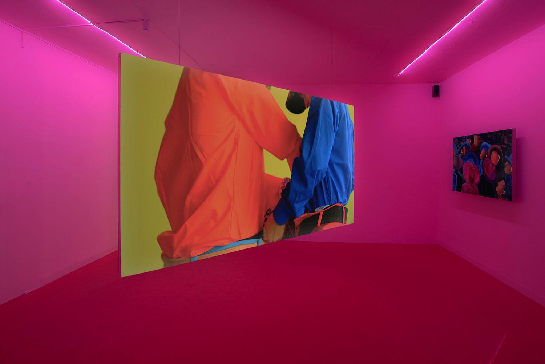 Ana Segovia, vista de la exposición Pos' se acabó este cantar, Museo de Arte Carrillo Gil, 2021. Foto: Beka O. Peralta. Cortesía de Galería Karen Huber