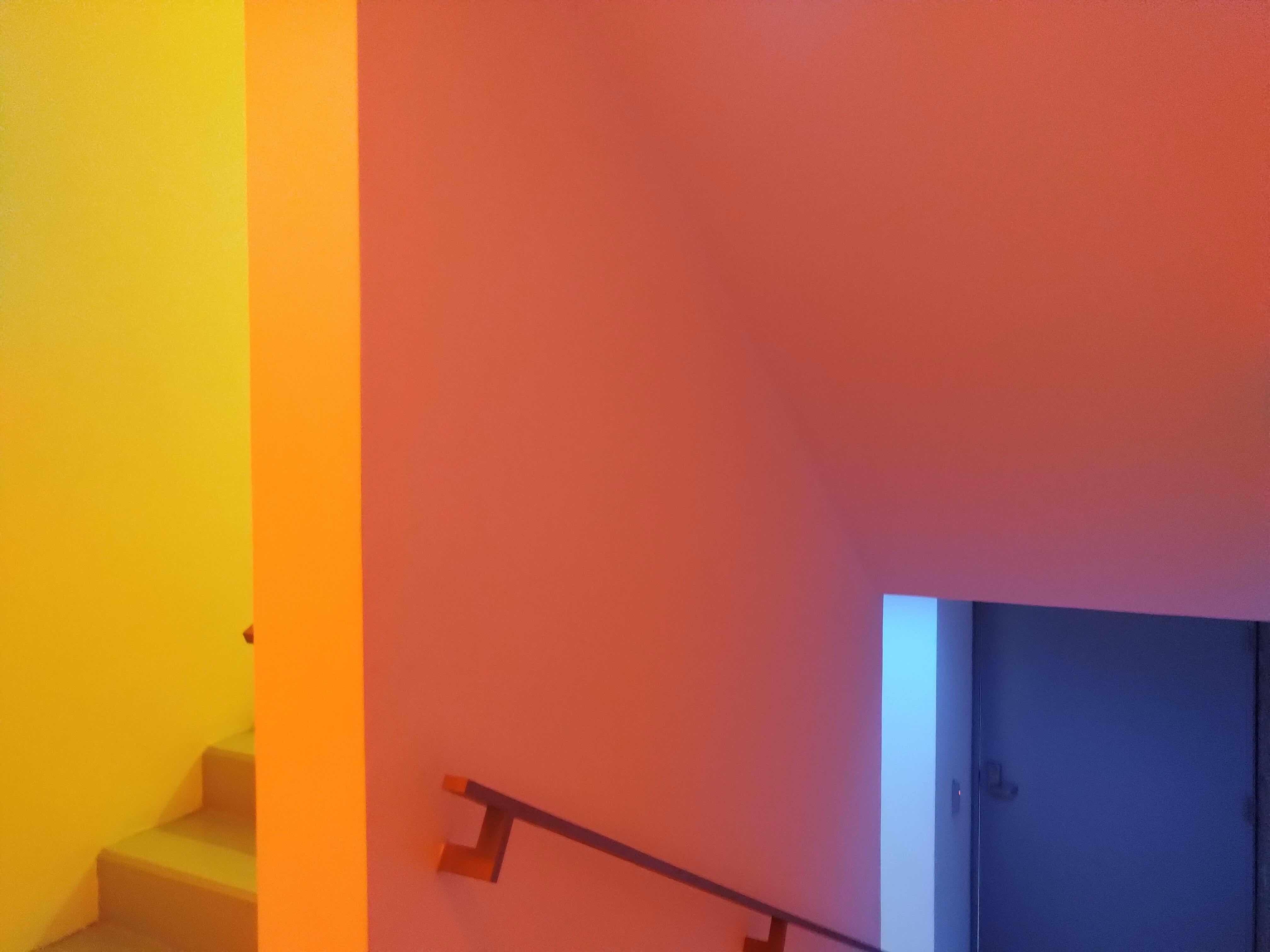 Christian Camacho, Ejercicio 'Inmersión y color' en Escaleras del CRGS, UDEM. Cortesía del artista