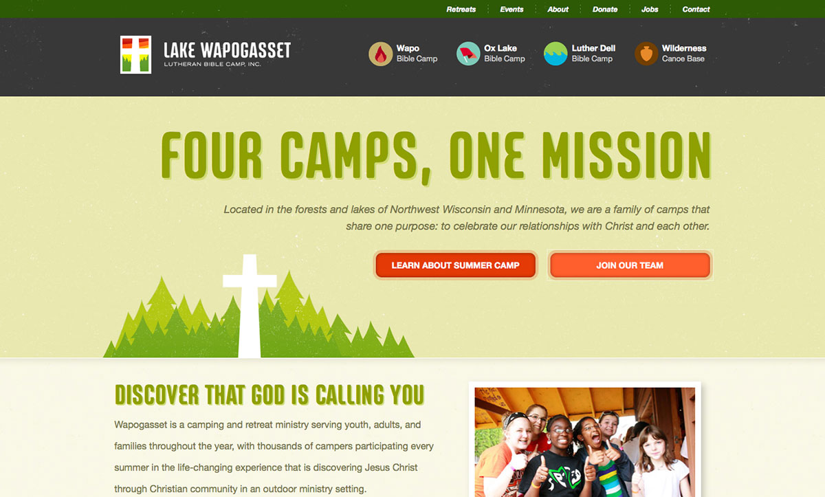 Lake Wapogasset Lutheran Bible Camp