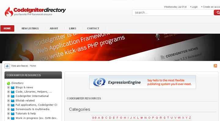 CodeIgniter Resources Directory