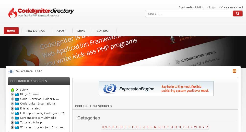 CodeIgniter Resources Directory
