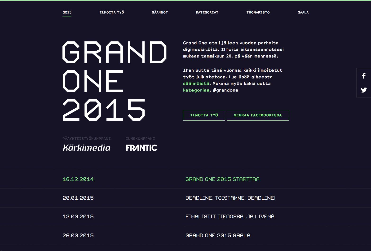 Grand One 2015