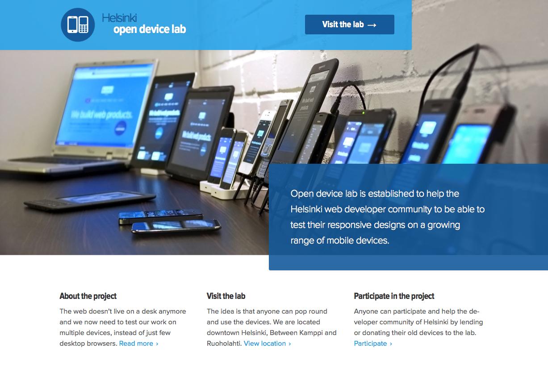 Helsinki open device lab