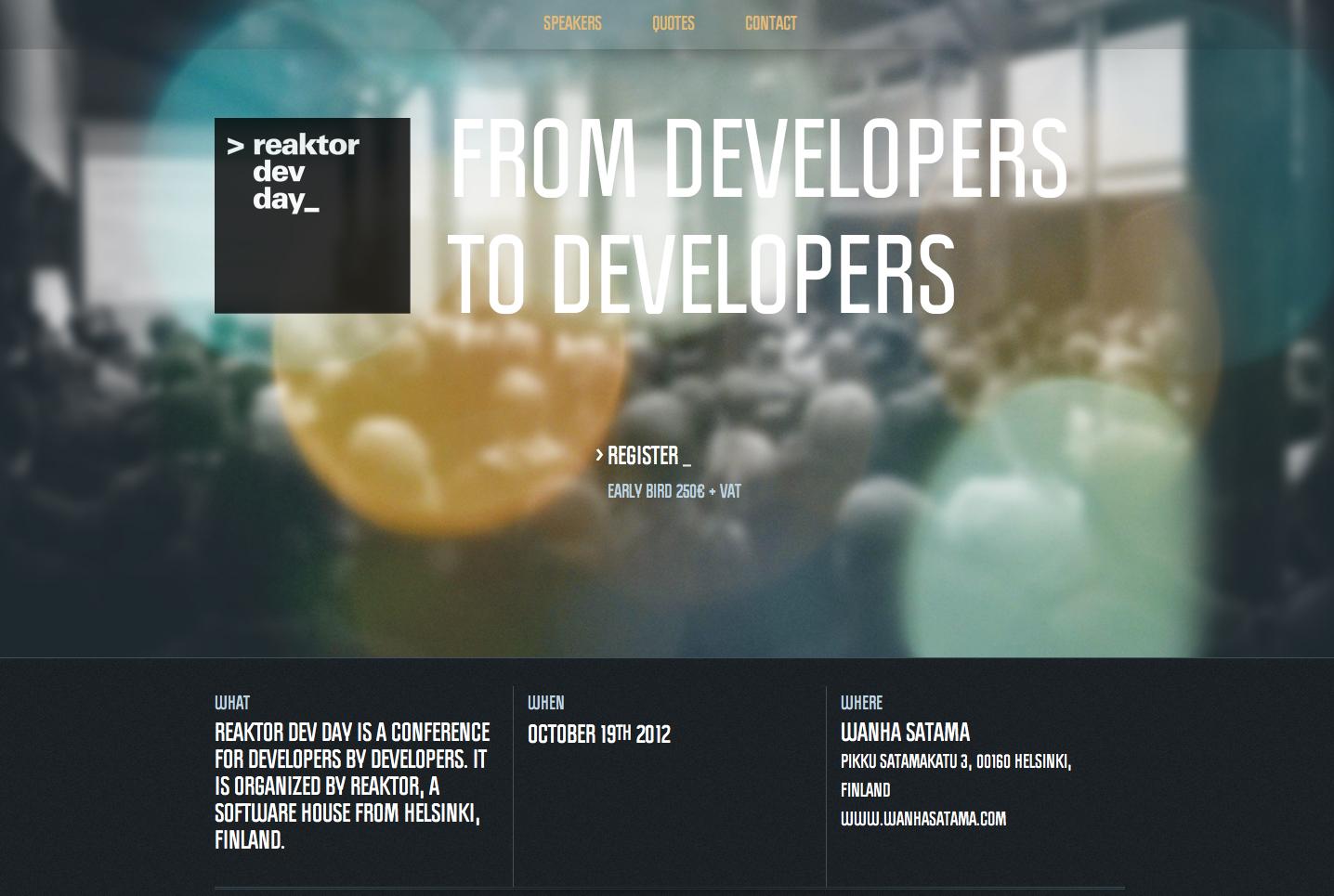 Reaktor Dev Day 2012