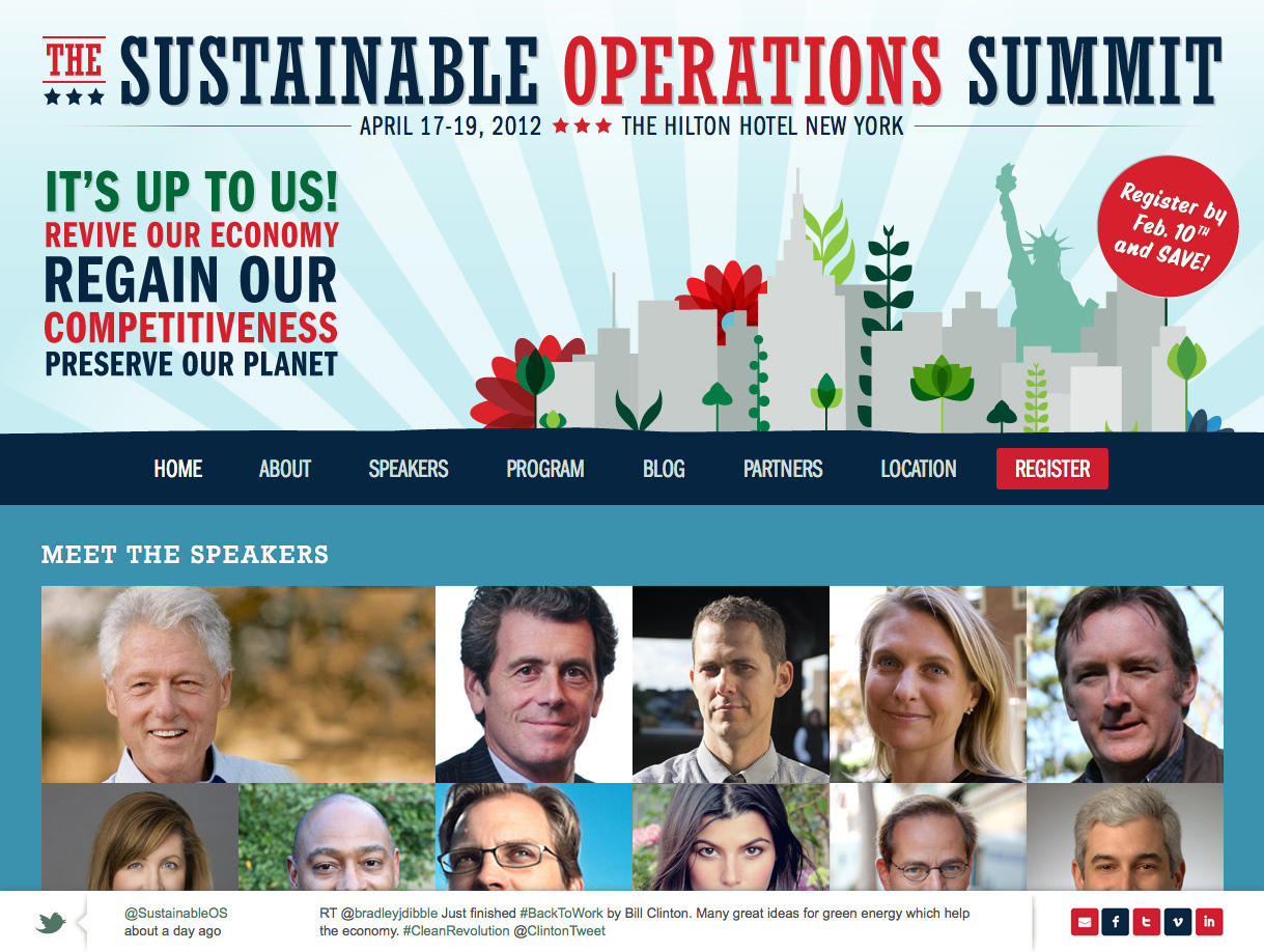 Sustainable Operations Summit 2012