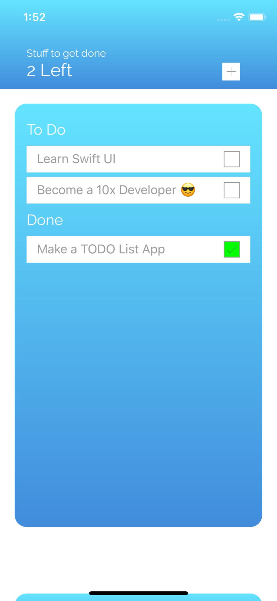 Todo List App Preview 1
