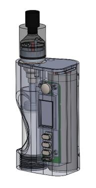 Carbon Fiber SS Squonker Vape Mod  Preview 1
