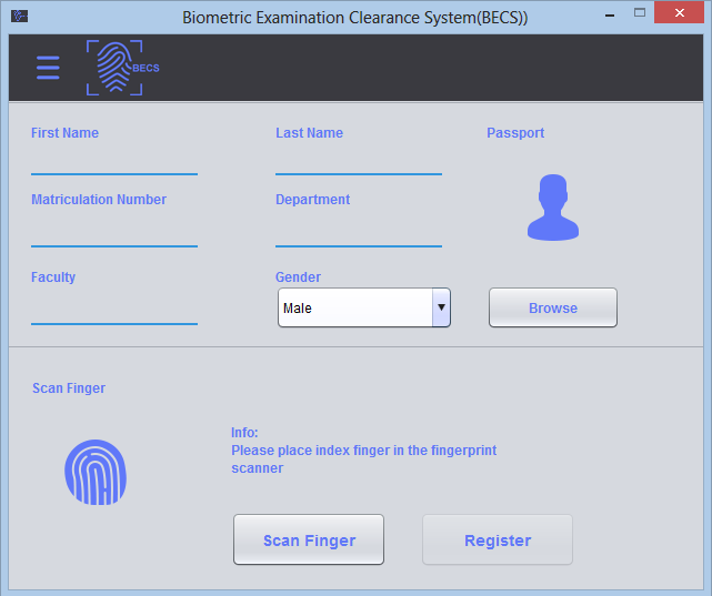 Biometrics Examination Clearance System (BECS) Preview 2