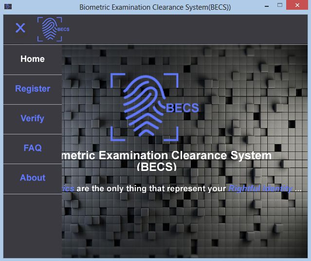 Biometrics Examination Clearance System (BECS) Preview 1