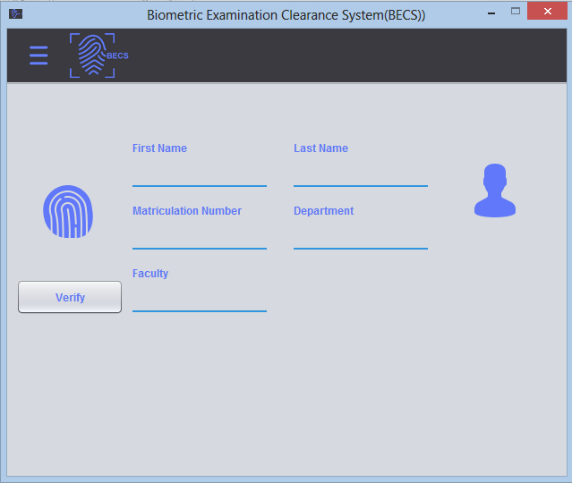 Biometrics Examination Clearance System (BECS) Preview 3