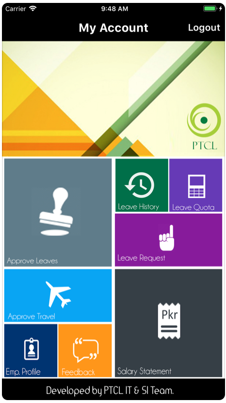 PTCL Vibe (Employee self-service application)  Preview 1