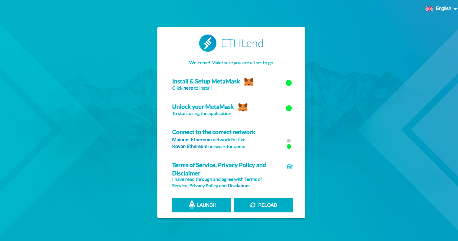ETHLend Preview 0