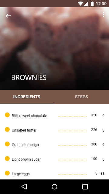 Baking App Preview 1