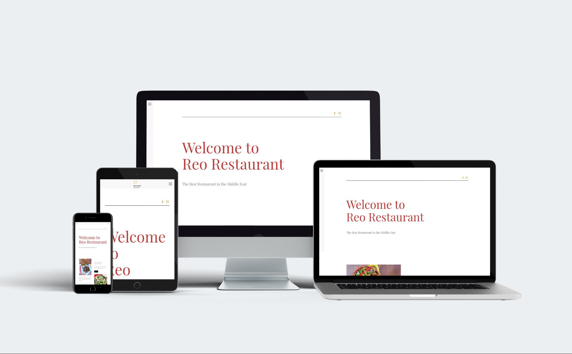 Reo Resturant Website Preview 0