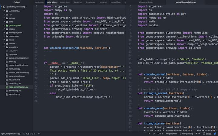 Exemplo  de tela do editor Atom