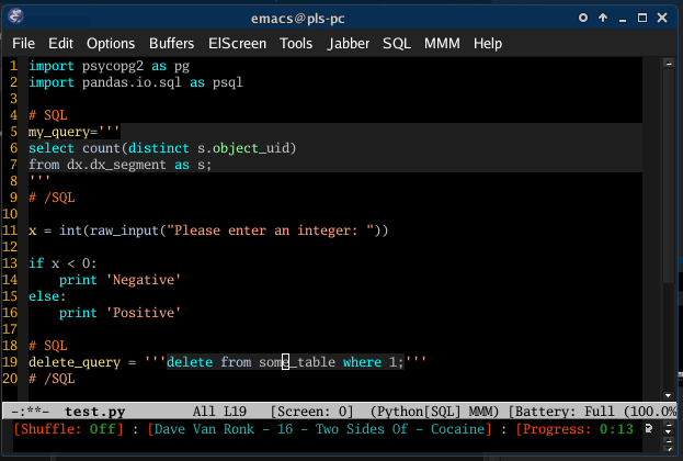 Exemplo de tela do editor Visual Studio Code