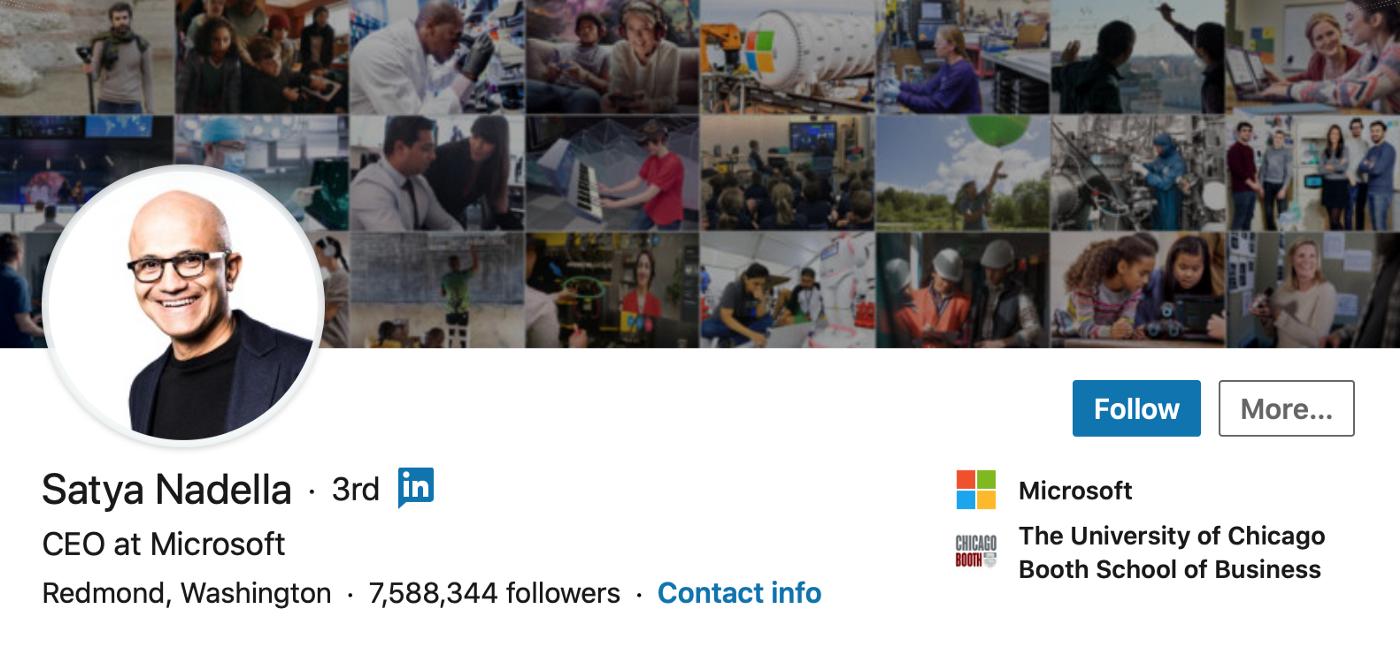 Satya Nadella, CEO at Microsoft