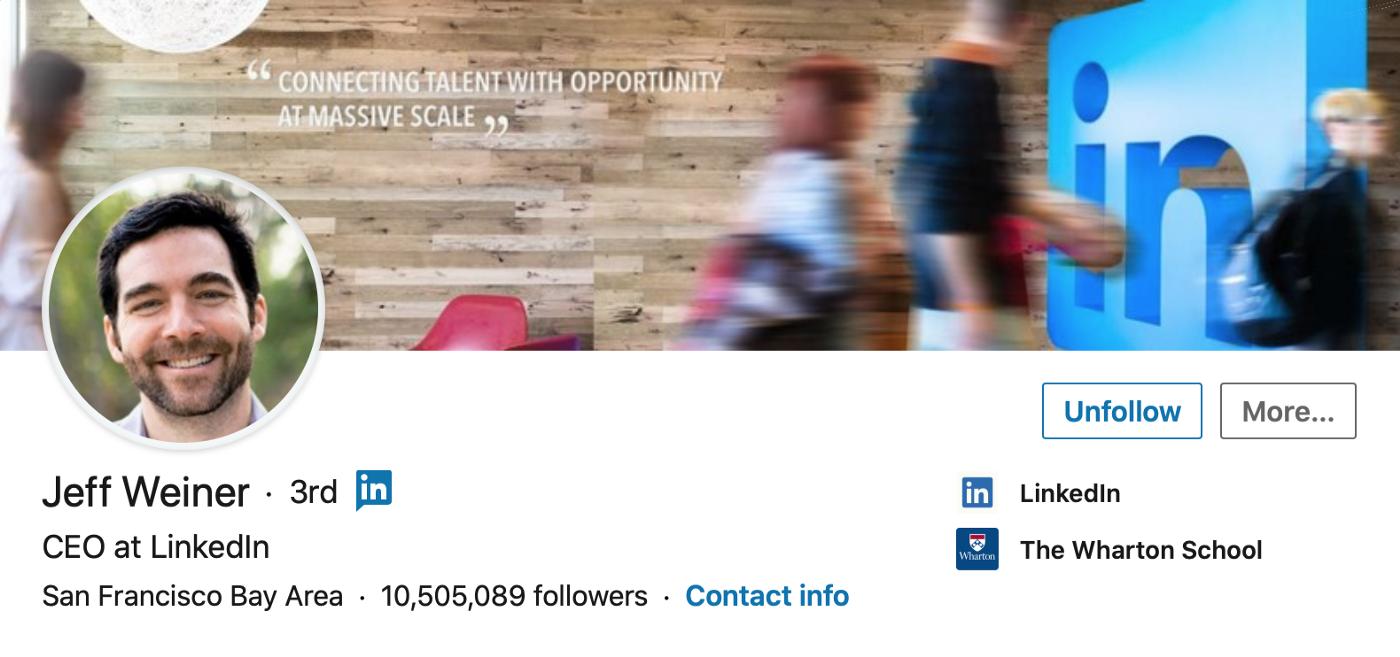 Jeff Weiner, CEO at LinkedIn