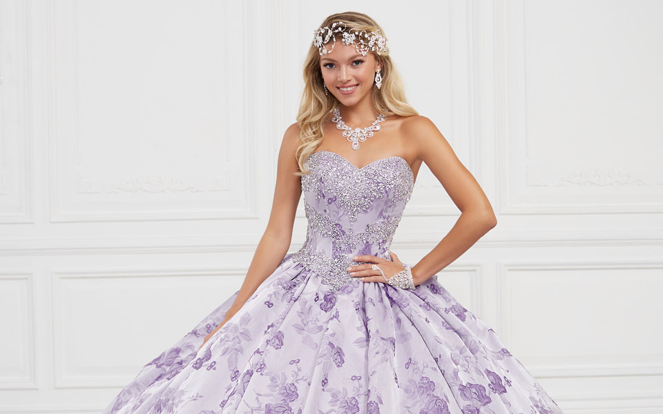 Beautiful Printed Dresses for your Quinceañera