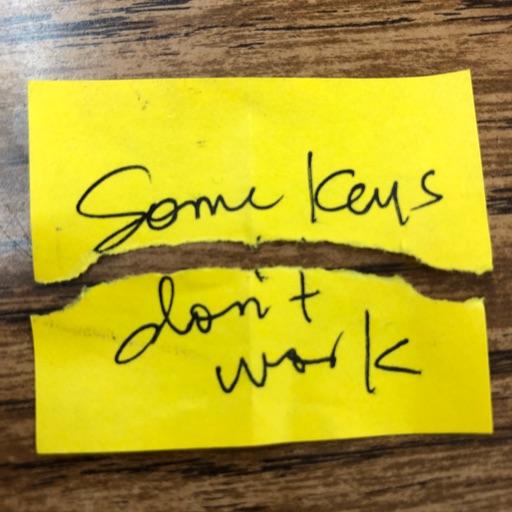 Some Keys Don't Work