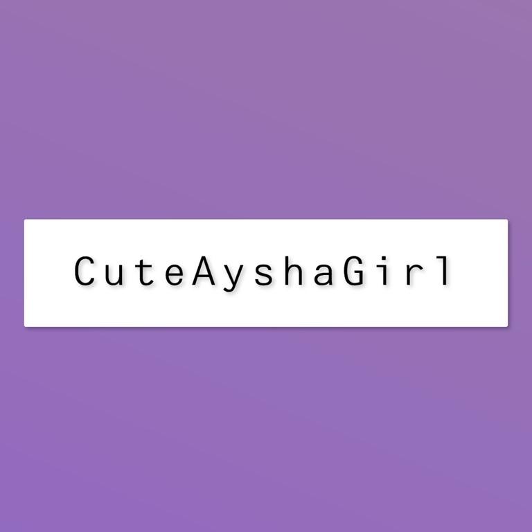 CuteAyshaGirl
